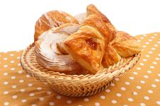 Buns In A Basket Royalty Free Stock Photo