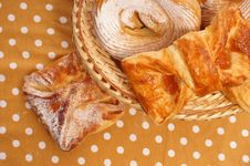 Buns In A Basket Royalty Free Stock Image