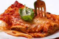 Cannelloni With Mushrooms Stock Images