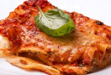 Cannelloni With Mushrooms Royalty Free Stock Photos