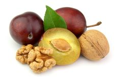 Free Walnuts And Plums Stock Photos - 20625073