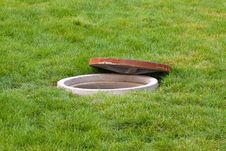 Free Water Crossings Under The Lawn In A Park Royalty Free Stock Photos - 20625268