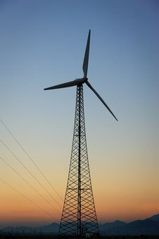 Free Wind Power, Palm Springs, California Stock Photo - 20626760