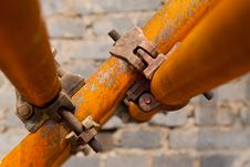 Free Rusty Scaffold In A Construction Site Royalty Free Stock Image - 20627306