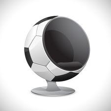 Soccer Ball Chair Stock Photo