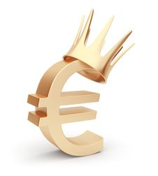 Free Golden Euro Currency 3D. Symbol. Isolated On White Stock Image - 20629171