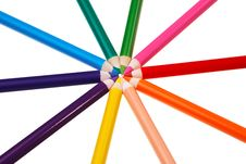 Free Colorful Wooden Crayons. Stock Photo - 20629800