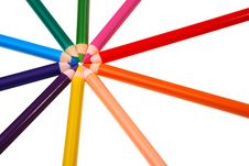Free Colorful Wooden Crayons. Royalty Free Stock Photo - 20629805