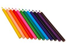 Free Colorful Wooden Crayons. Stock Photos - 20629813