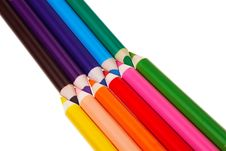 Free Colorful Wooden Crayons. Royalty Free Stock Image - 20629816