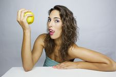 Free Eating An Apple Royalty Free Stock Image - 20629966