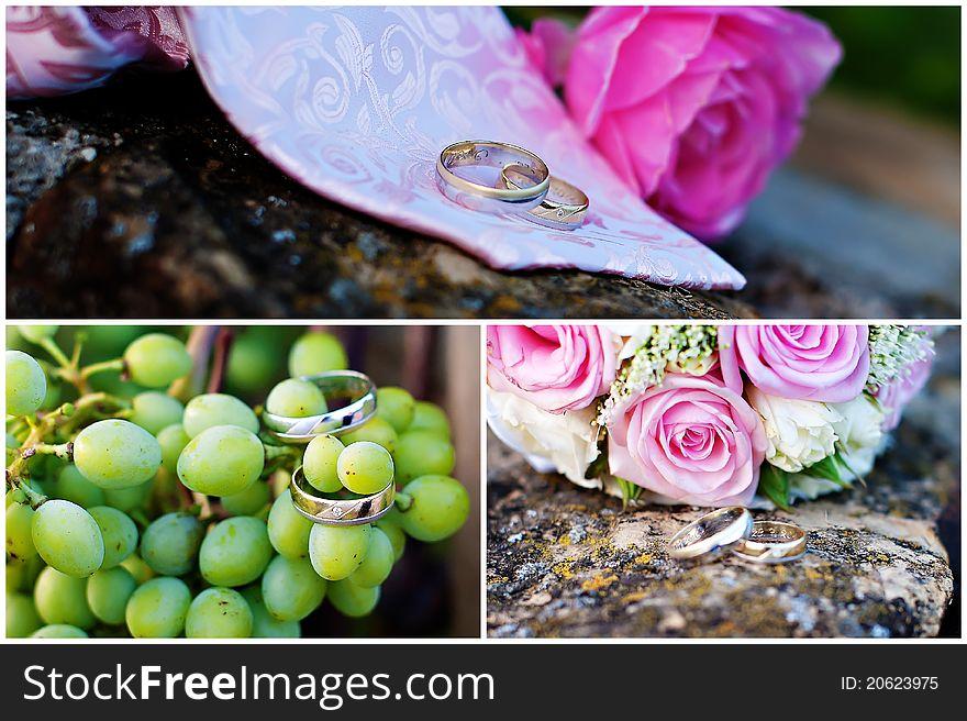 Wedding rings collage