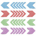Free Isolated Arrow Recycled Paper Craft Royalty Free Stock Photos - 20634018