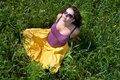 Free Pregnant Woman On Green Grass Field Under Blue Sky Royalty Free Stock Images - 20638579