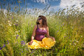 Free Pregnant Woman On Green Grass Field Under Blue Sky Stock Images - 20638634