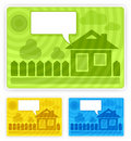 Free Color Speech Sticker With House Stock Image - 20638771