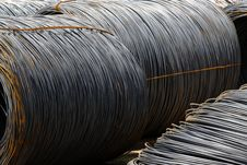 Free Steel Rebar In A Construction Site Stock Image - 20630111