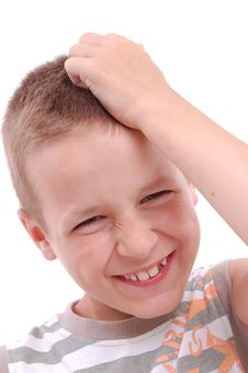 Free Portrait Of A Boy Thinking Royalty Free Stock Image - 20630856