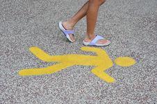 Free Yellow Walking Sign Stock Photos - 20631073