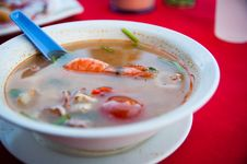 Prawn In Tomyam Soup Royalty Free Stock Image