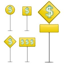 Free Abstract Dollar Yellow Road Sign Stock Photo - 20632930
