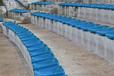 Free Old Plastic Blue Seats Stock Images - 20633144