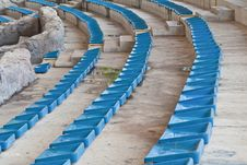 Free Old Plastic Blue Seats Royalty Free Stock Photography - 20633177