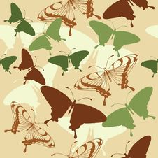 Free Seamless Background With Butterflies Royalty Free Stock Photos - 20634398