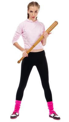 Free Pretty Lady With A Baseball Bat Royalty Free Stock Images - 20634709