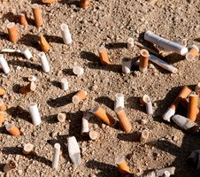 Free Cigarettes Butts Royalty Free Stock Photo - 20634855