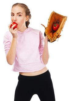 Free Young Woman Holding A Tomato Royalty Free Stock Images - 20635169
