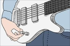 Free Closeup Of Man Tuning Guitar Stock Photo - 20635390