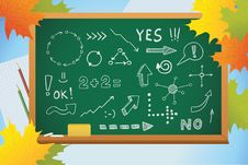 Free School Background With Symbols On Blackboard Royalty Free Stock Images - 20635399