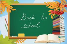 Free School Autumn Background With Blackboard Stock Photography - 20635402