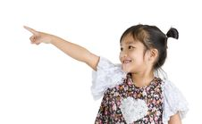 Free Girl Pointing At Something Stock Image - 20635461