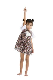 Free Little Girl Pointing Up Stock Photo - 20635480