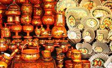 Free Souvenirs - Hohloma Cups Stock Photos - 20636123