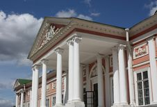 Kuskovo Estate. View Of The Ducal Palace  Facade Royalty Free Stock Image