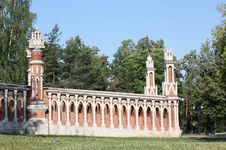 Free The Curly Gate Of The Park Tsaritsyno Royalty Free Stock Photography - 20636367