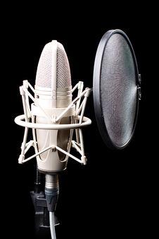 Free Professional Studio Microphone Royalty Free Stock Image - 20636876