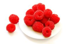 Free Raspberry On White Plate Royalty Free Stock Photo - 20637475