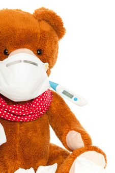 Free Bear With Thermometer And Mask Stock Photos - 20638213
