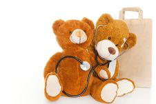 Free Two Bears Doctor Royalty Free Stock Image - 20638346