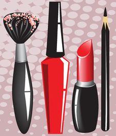 Free Set Of Cosmetics Royalty Free Stock Image - 20639396