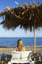 Free Young Woman Lying In The Deck-chair Stock Photos - 20644043