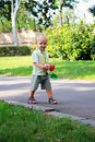 Free A Little Boy Walks In The Park Royalty Free Stock Images - 20645059