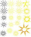 Free Set Of Suns Stock Photos - 20646053