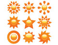 Free Set Of Sun Icons Stock Photography - 20646302
