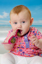 Free Baby On Beach Stock Photography - 20646672