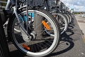 Free Bikes For Rent In The City Stock Photo - 20647990